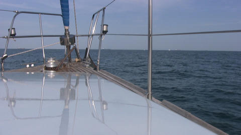 View to the front of yacht Stock Video Footage