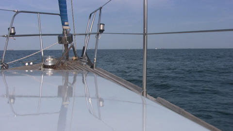 View to the front of yacht Footage