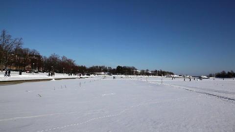 Walking on the frozen sea 9 Stock Video Footage