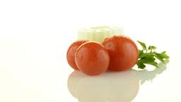 Fresh white cheese Stock Video Footage