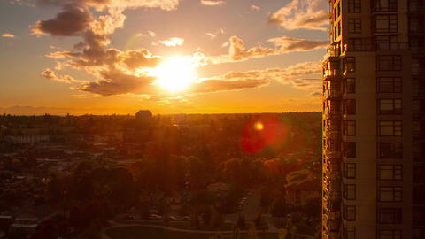 Time Lapse of Sunset in a Residential Area Stock Video Footage