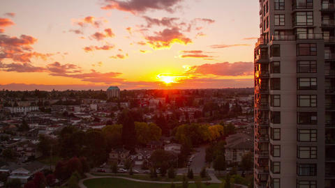 Time Lapse of Sunset in a Residential Area Footage