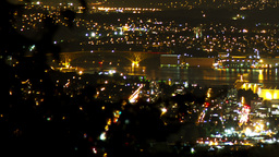 3 shots time lapse night view of Vancouver and Cit Stock Video Footage