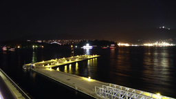 3 shots of Boat Traffic by the Plane Dock in Downt Stock Video Footage