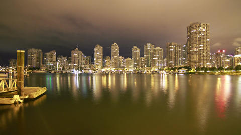 3 Shots of Downtown Vancouver Time Lapse Stock Video Footage