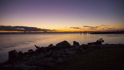 Sunset times by the ocean Stock Video Footage