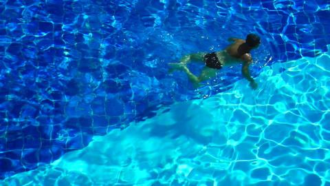 Swimming for Exercise Stock Video Footage