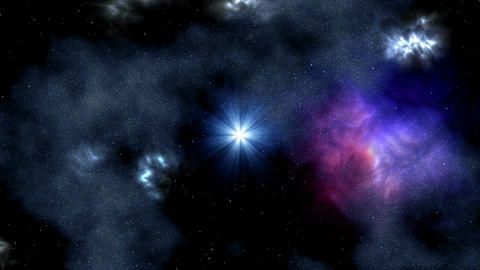 Star and rotating nebula Animation