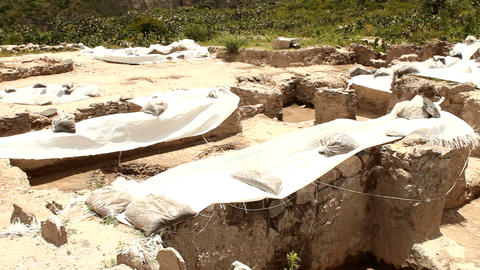 Archaeological excavations Stock Video Footage