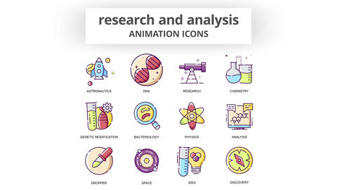 Research & Analysis - Animation Icons After Effects Template