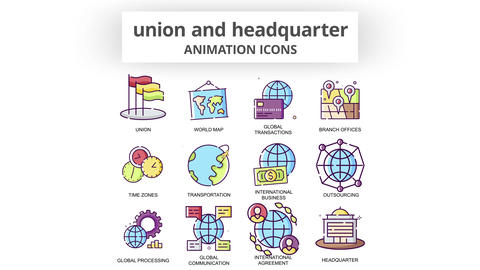 Union & Headquarter - Animation Icons After Effects Template