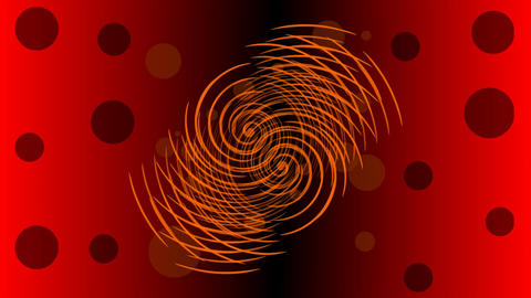 Red abstract shape rotating on red and black gradient background Animation