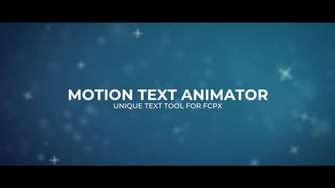 Motion Text Animator Apple Motion Template