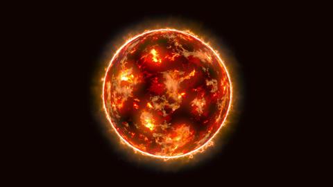 fractal sun flame glow light loop animation Animation