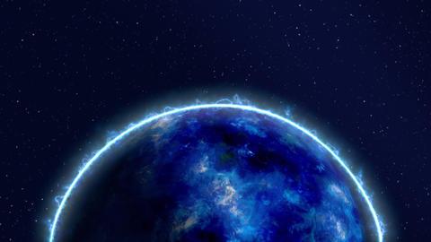 fractal blue sun flame glow light loop animation Animation