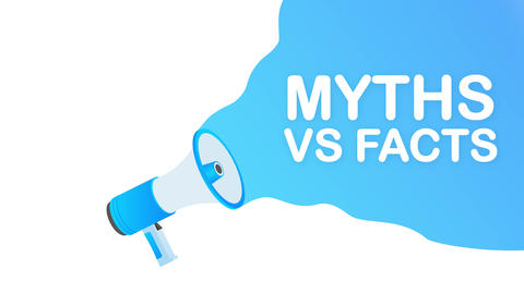 Myths vs facts. Icon on white backdrop. Versus vs background. icon. Motion Animation