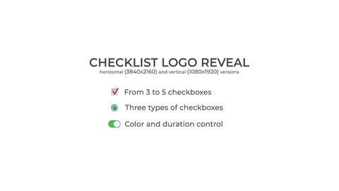 Checklist Logo Reveal