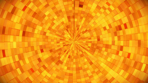 Broadcast Hi-Tech Glittering Abstract Patterns Tunnel, Golden, Industrial, Loopable, 4K Animation