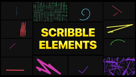 Scribble Elements After Effects Template