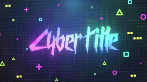 Cyberpunk Logo And Title After Effects Template