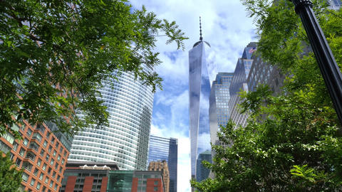 Freedom tower in new york city Live Action