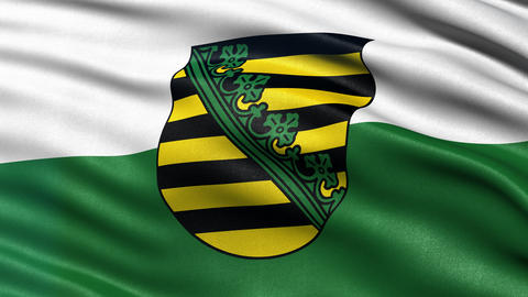 Saxony state flag seamless loop Animation