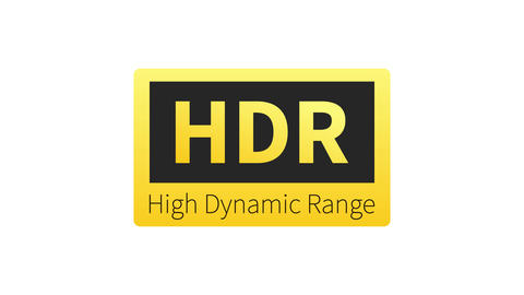 High Dynamic Range Imaging, High definition. HDR. Motion graphics Animation