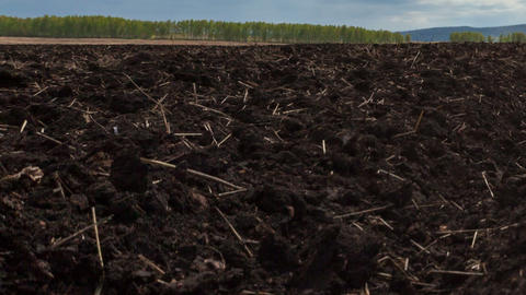 Plowed field, Motion controlled dolly, Time Lapse Stock Video Footage