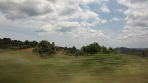 Nature through the car window Stock Video Footage