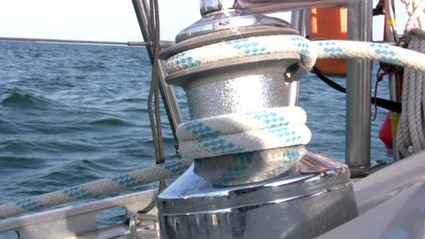 Yacht winch Stock Video Footage