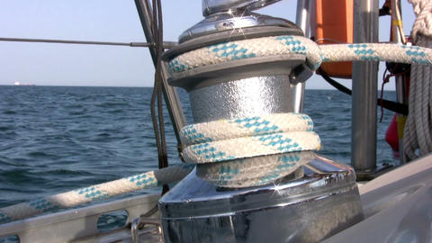 Yacht winch Footage