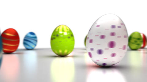 Easter Eggs Dancing Stock Video Footage