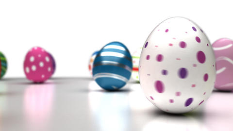 Easter Eggs Dancing Stock Video Footage