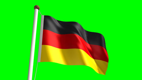 Germany flag Stock Video Footage