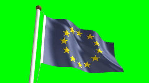 Europe flag Stock Video Footage