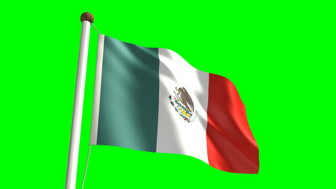 Mexico flag Stock Video Footage