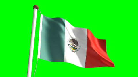 Mexico flag Animation