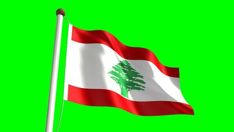 Lebanon flag Animation