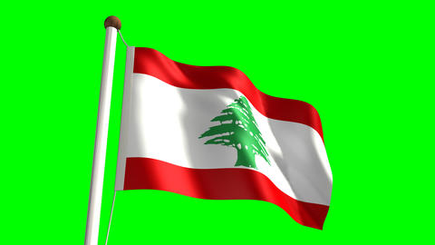 Lebanon flag Stock Video Footage