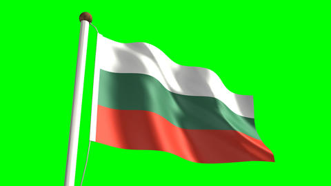 Bulgaria flag Stock Video Footage