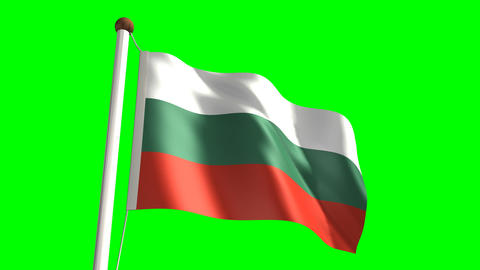 Bulgaria flag Stock Video Footage