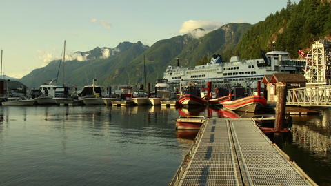 Time Lapse of Loading Passengers at the dock Stock Video Footage