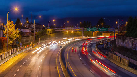 High Impact Busy Traffic of Highway #1 in Vancouve Stock Video Footage