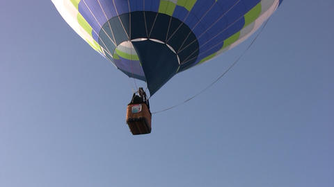 Hot air balloons soars Stock Video Footage
