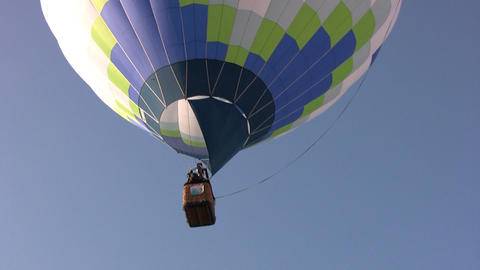Hot air balloons soars Footage