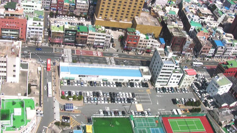 City. Top view Stock Video Footage