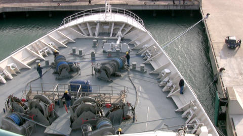 Cruise ship. Work on deck Stock Video Footage