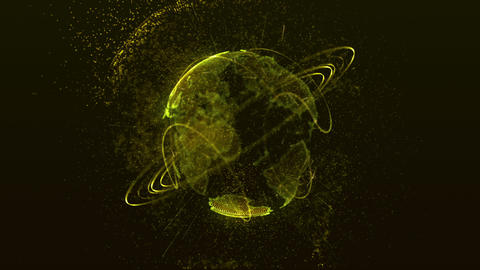 planet yellow Stock Video Footage