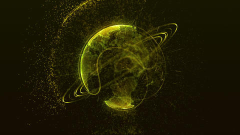 planet yellow Animation