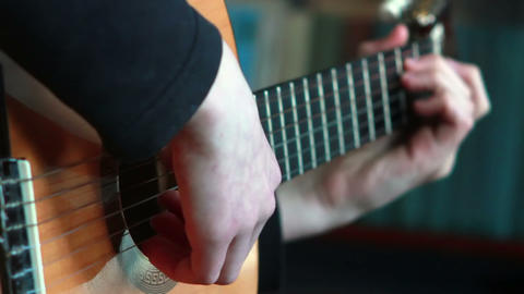 Gitarre spielen 4 Stock Video Footage